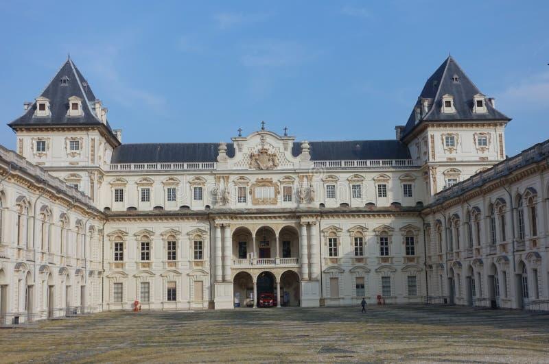 Турин замок Valentino стоковое изображение rf