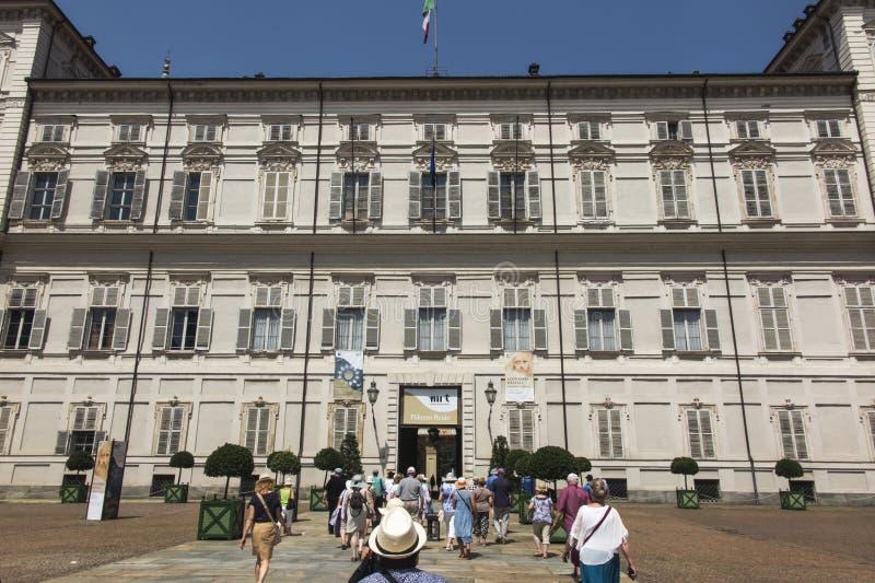 Турин, Италия, 27-ое июня 2019: Королевский дворец Турина или Palazzo Reale di Турин исторический дворец в городе Турина стоковое изображение