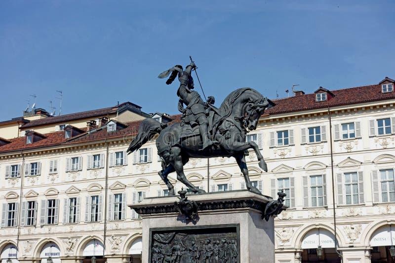 Турин памятник к Emanuele Filiberto di Savoia стоковые изображения rf