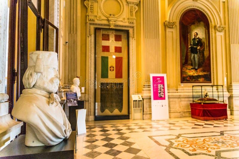 Турин, Пьемонт, Италия, 19-ое августа 2017 Внутренняя комната Carigna стоковые изображения rf