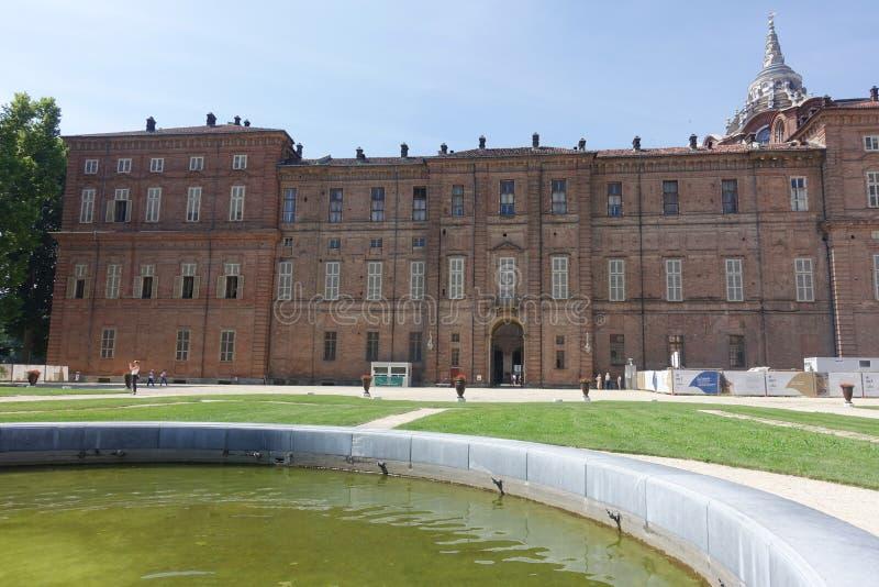 Турин сады королевского дворца стоковые фотографии rf