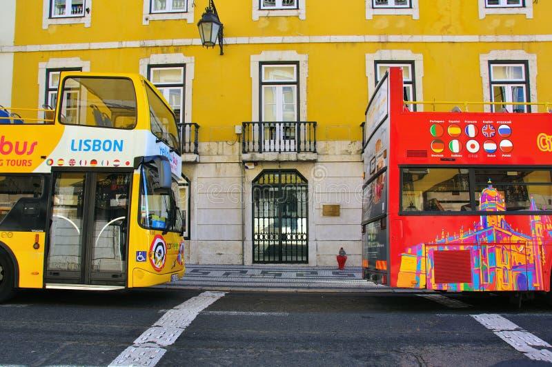 Туристические автобусы Лиссабона стоковое фото