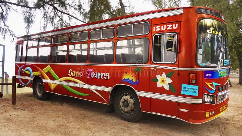 Туристический автобус, остров Маврикия стоковое изображение