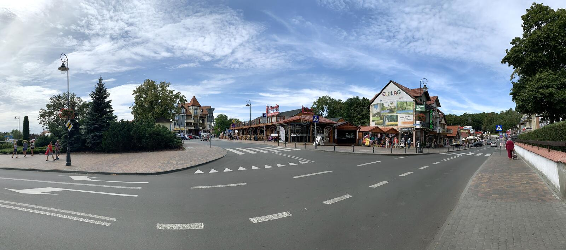 Туристический центр деревни стоковое изображение rf