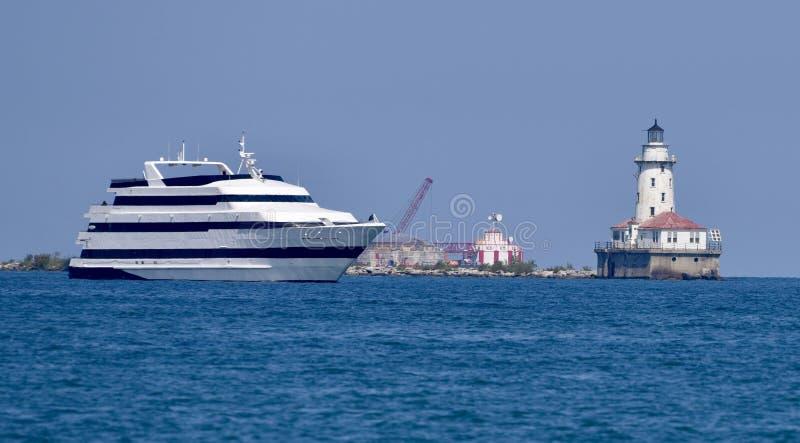 Туристическое судно Чикаго стоковое изображение rf