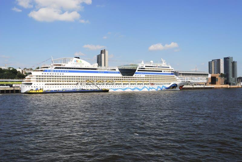 туристическое судно aidablu стоковые изображения