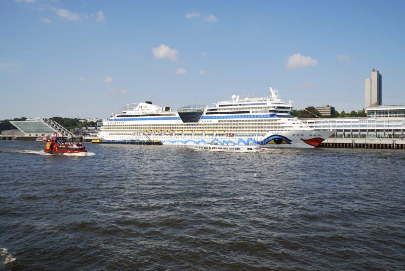 туристическое судно aidablu стоковое изображение