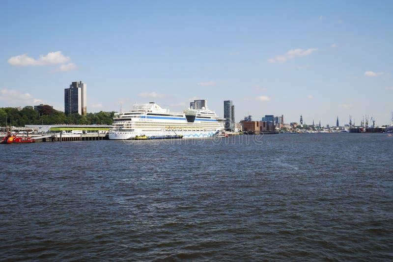 туристическое судно aidablu стоковое фото