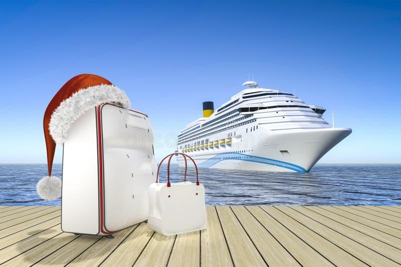 Туристическое судно перемещения рождества бесплатная иллюстрация