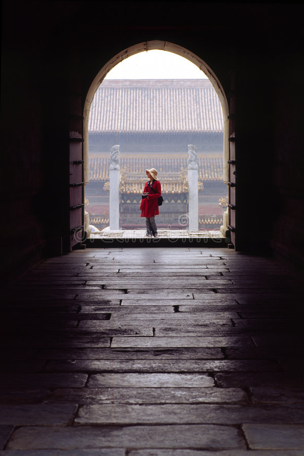 туристская женщина стоковое изображение rf