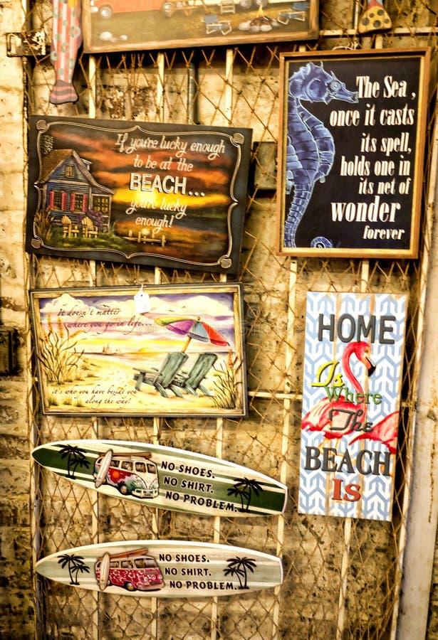 Туристские сувениры в саванне в Georgia США стоковое изображение rf