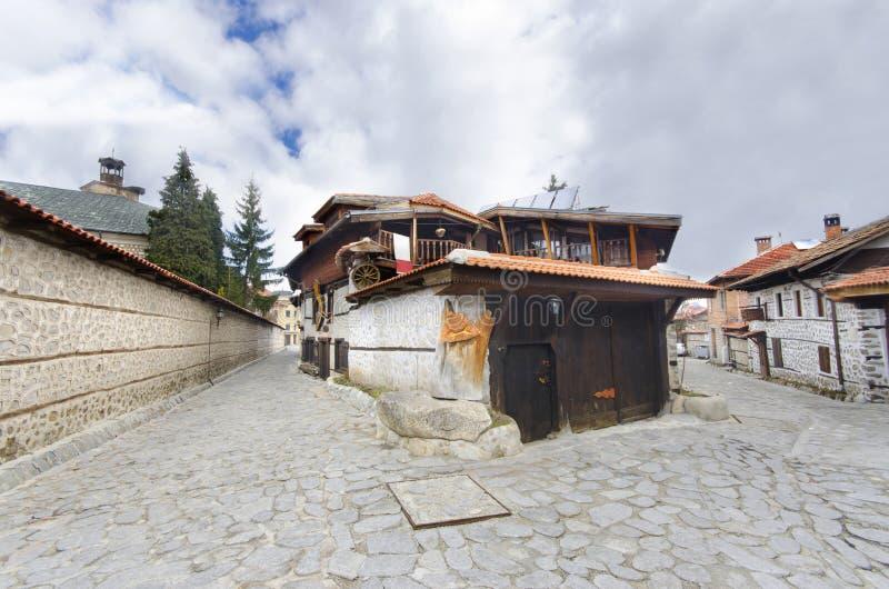 Туристский центр лыжи кубка мира Bansko Болгарии стоковые фото