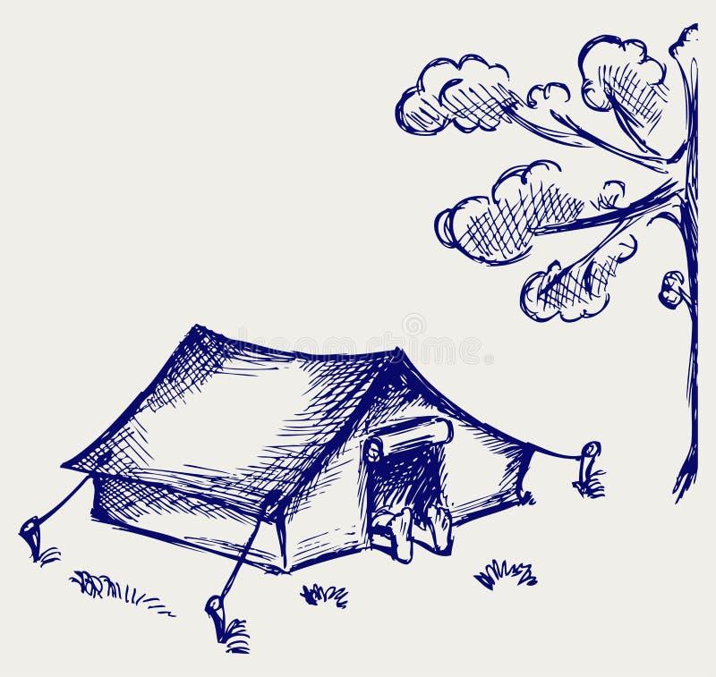 Туристский шатер иллюстрация штока