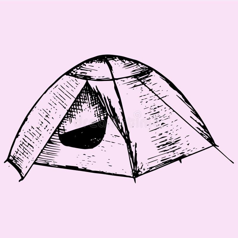 Туристский шатер бесплатная иллюстрация