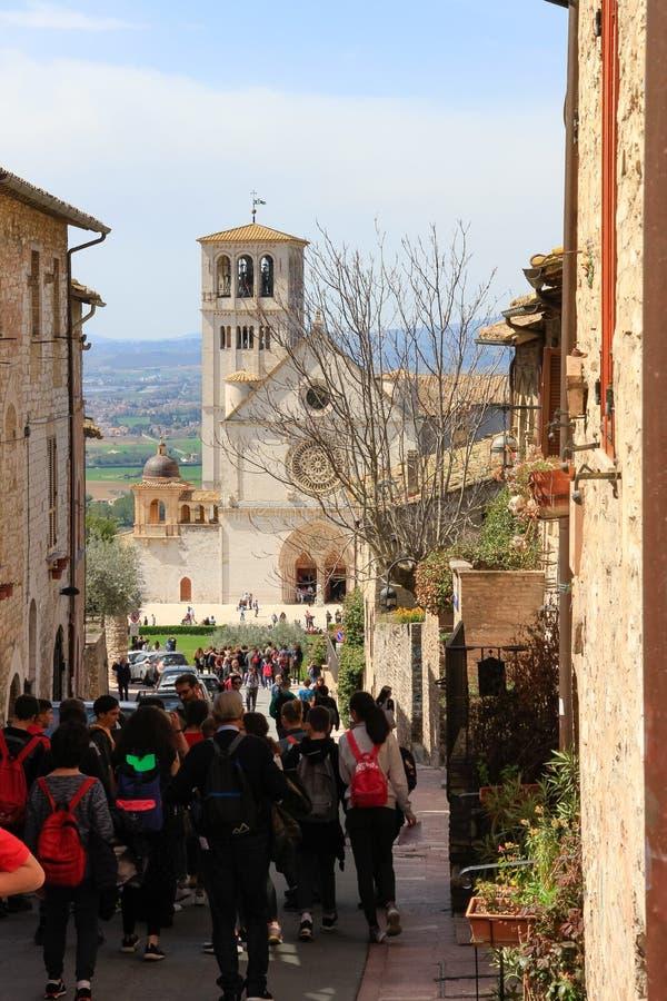 Туристы в Assisi стоковые фотографии rf