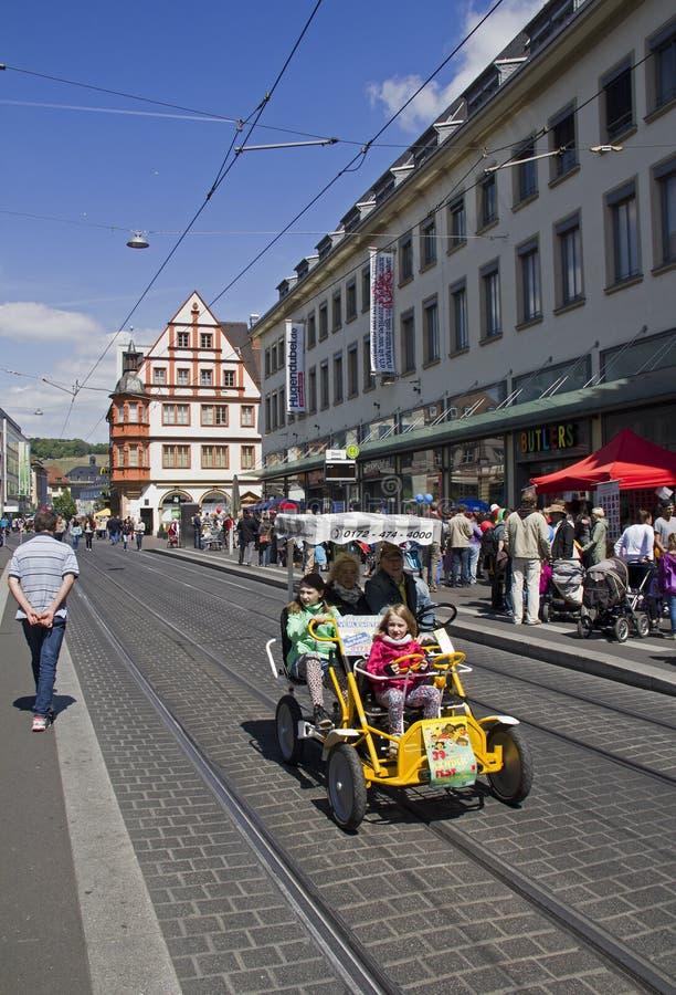 Туристы в Wurzburg, Германии стоковые изображения