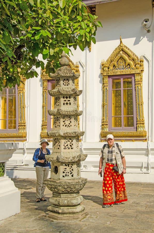 Бангкок, Таиланд - комплекс королевского дворца стоковое изображение rf