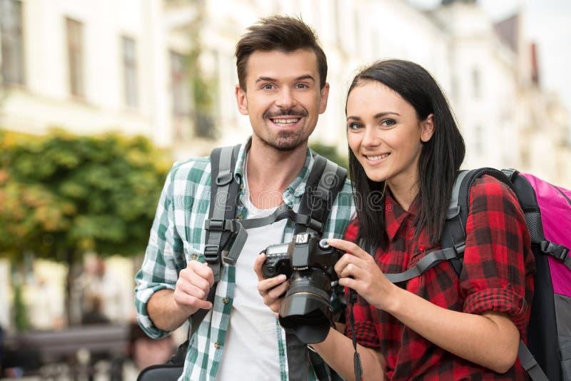 туристы стоковая фотография rf