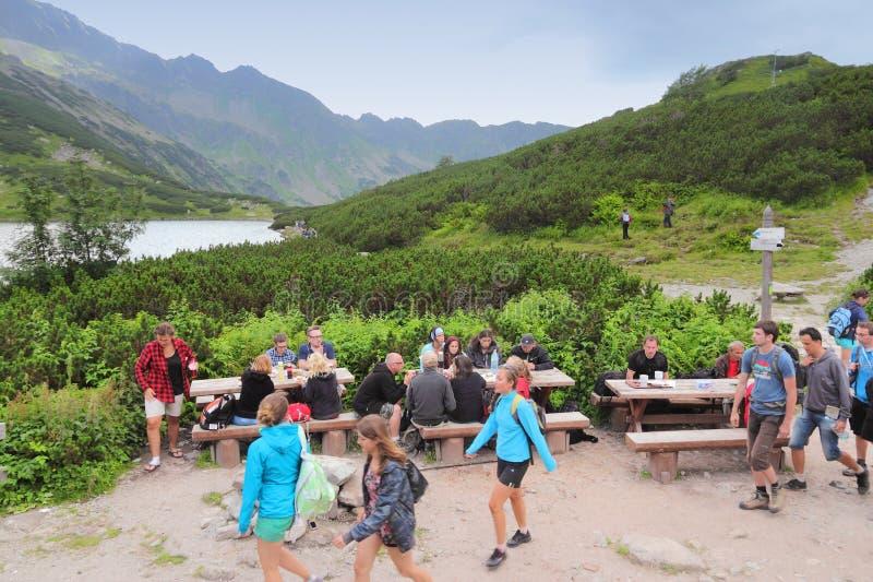 Туристы Tatra стоковые фотографии rf