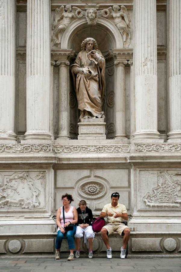 туристы venice стоковые изображения rf