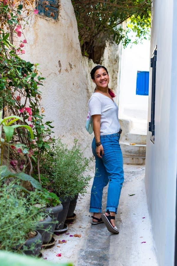 Турист в Афина Греции стоковое фото rf
