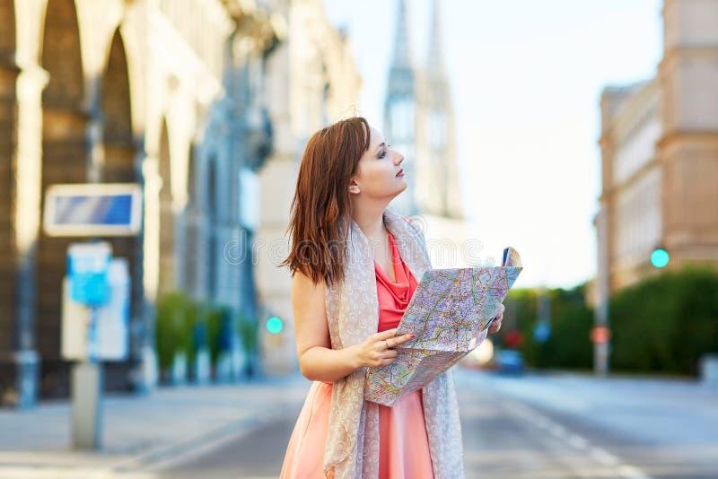 Турист в вене, Австрии стоковое изображение