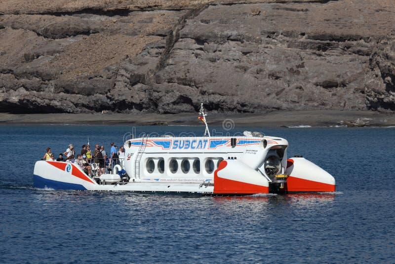 турист подводной лодки fuerteventura стоковое изображение