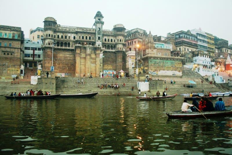 турист реки ganges шлюпок стоковое изображение