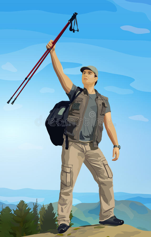 Турист человека бесплатная иллюстрация