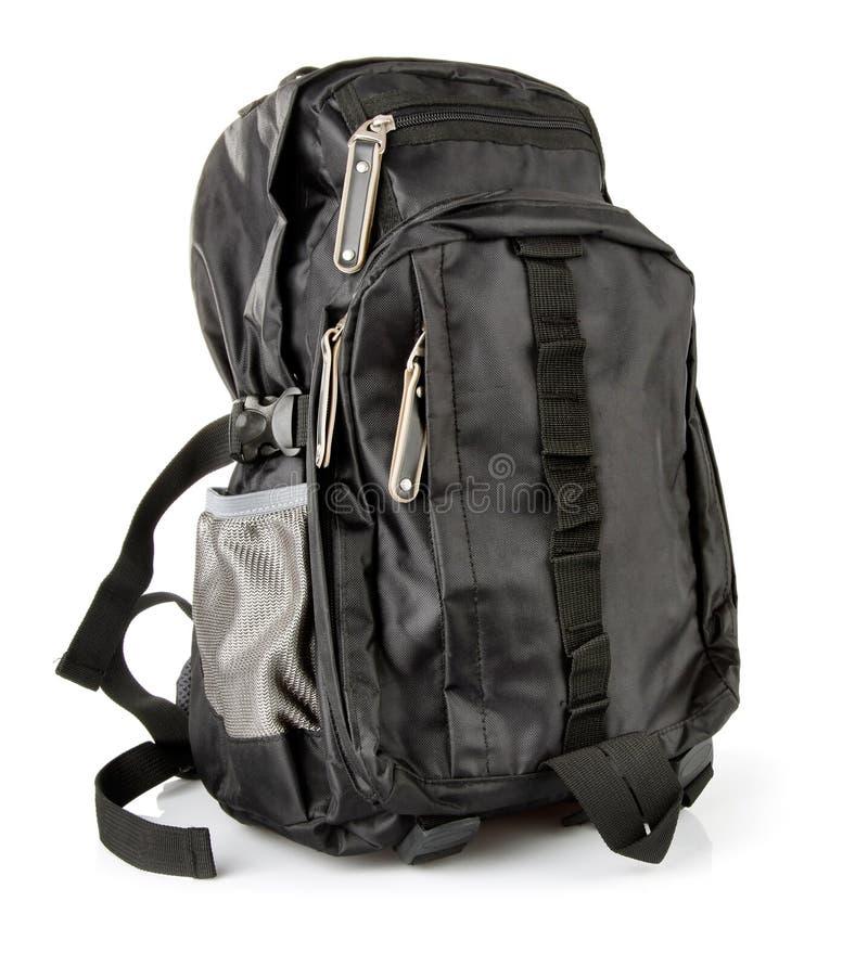 турист backpack изолированный чернотой стоковые изображения