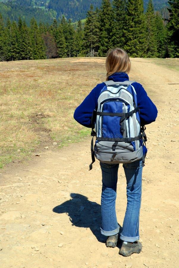 турист backpack стоковые изображения rf