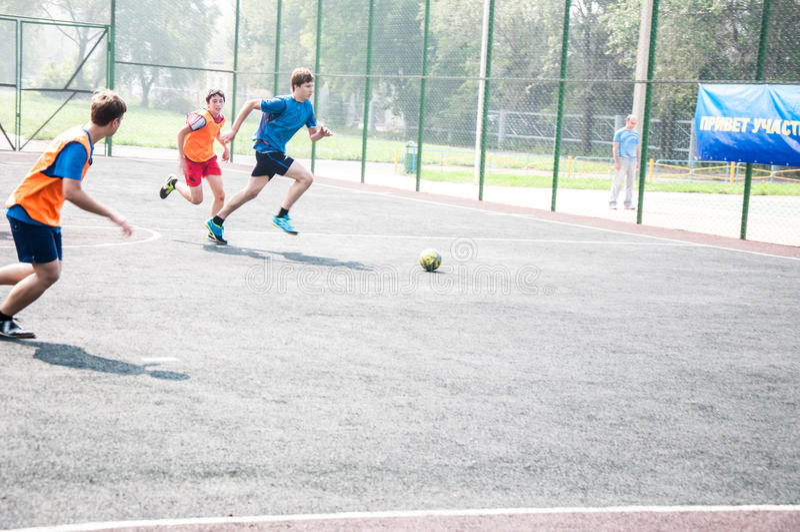 Турнир на мини-футболе стоковые изображения rf