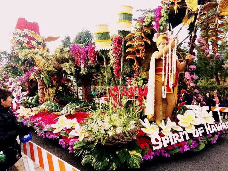 Турнир 2017 Пасадина, Калифорнии парада роз: Dole Компания поплавка в зоне пост-парада * 2-ое января 2017 Гаваи стоковое фото rf
