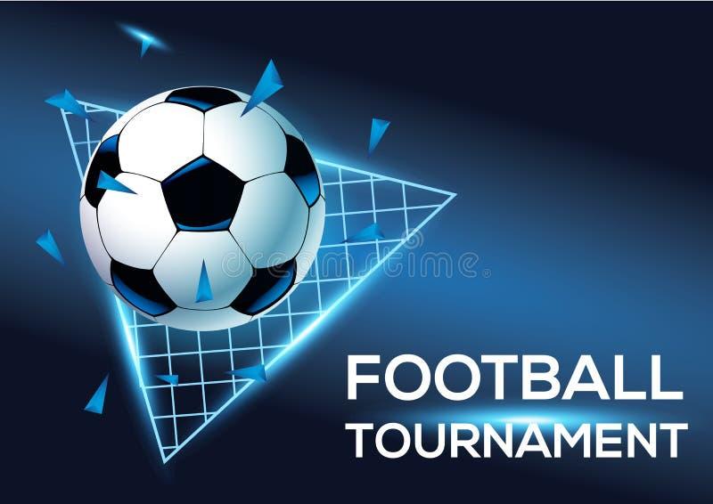 Турнир футбола с голубой предпосылкой бесплатная иллюстрация