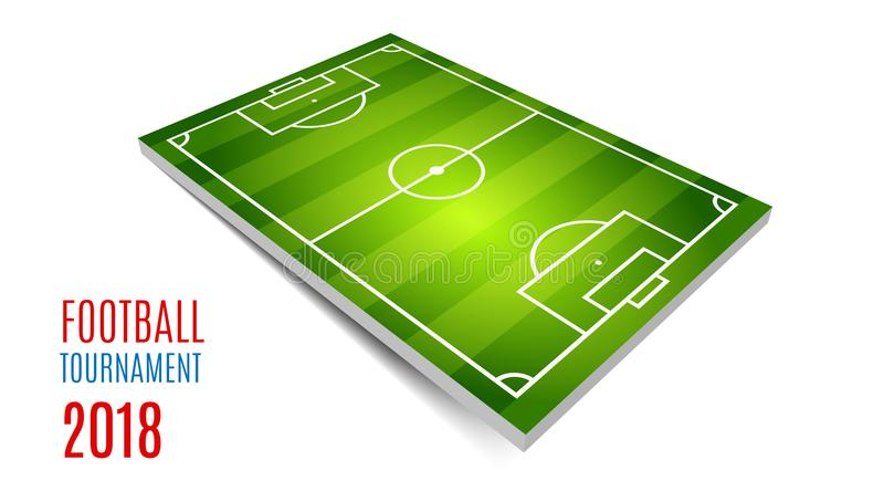 Турнир футбола, чашка 2018 Дизайн предпосылки чемпионата футбола Элемент для карточек дизайна, приглашений, карточек подарка иллюстрация штока