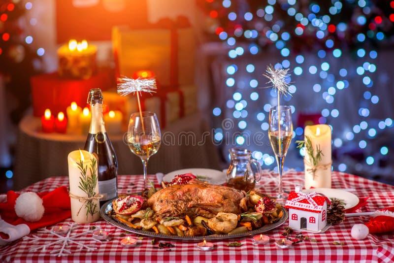 Турция на рождестве украсила таблицу стоковое фото rf