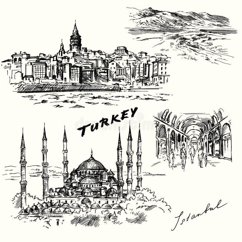 Турция, Стамбул иллюстрация штока