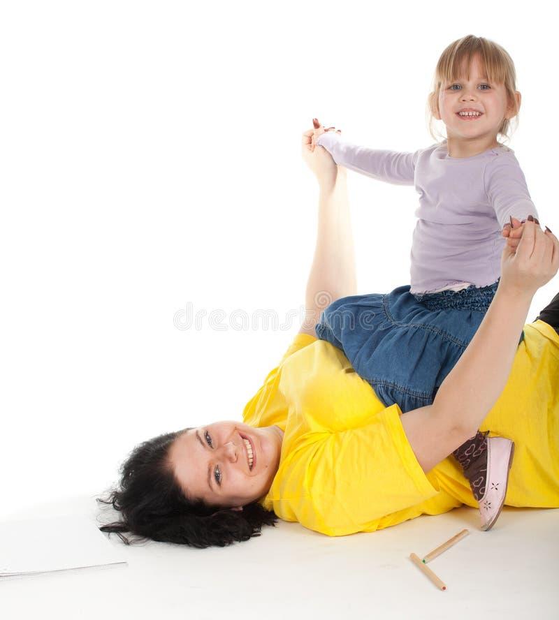 тучная девушка ее мать стоковое фото rf