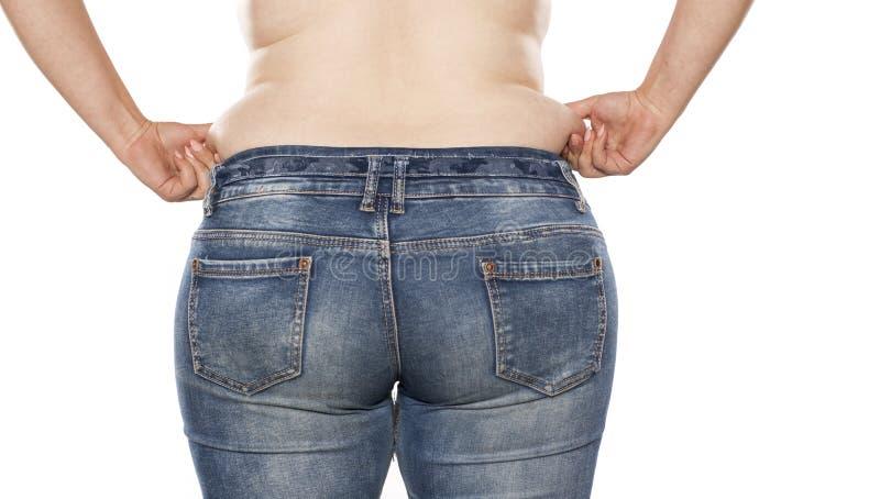 Тучная женщина стоковые изображения rf
