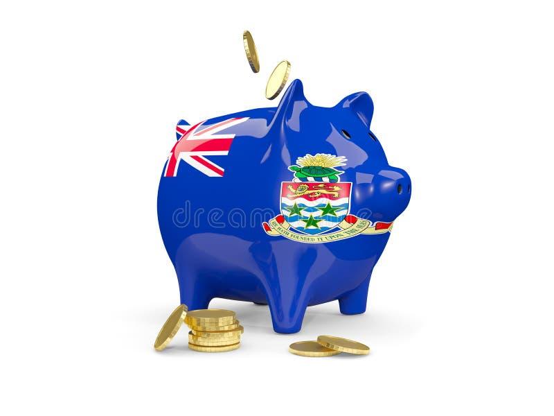 Тучная копилка с флагом Каймановых островов бесплатная иллюстрация