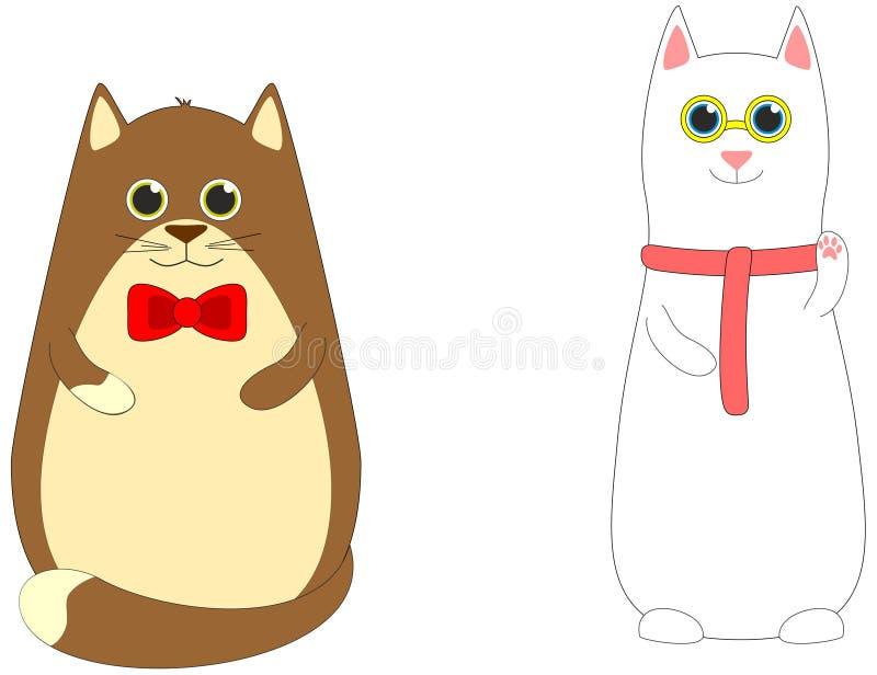 Тучные и ухищренные коты стоковое изображение