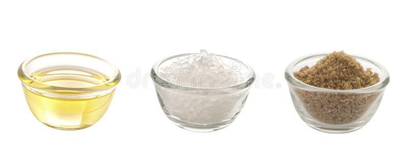 Тучные соль и сахар стоковое фото rf
