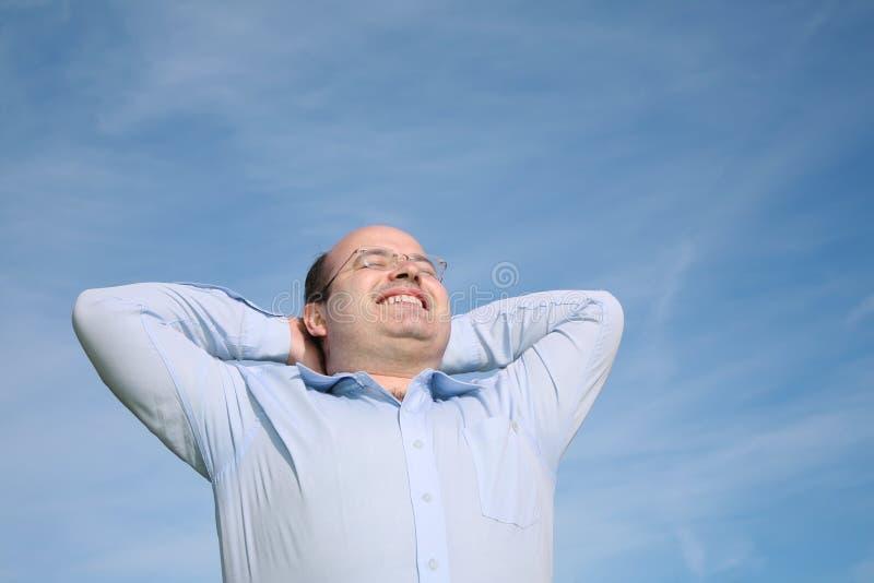 тучный счастливый человек стоковое фото