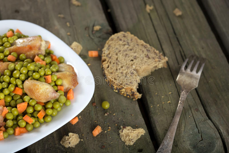 Тушёное мясо цыпленка стоковые фотографии rf