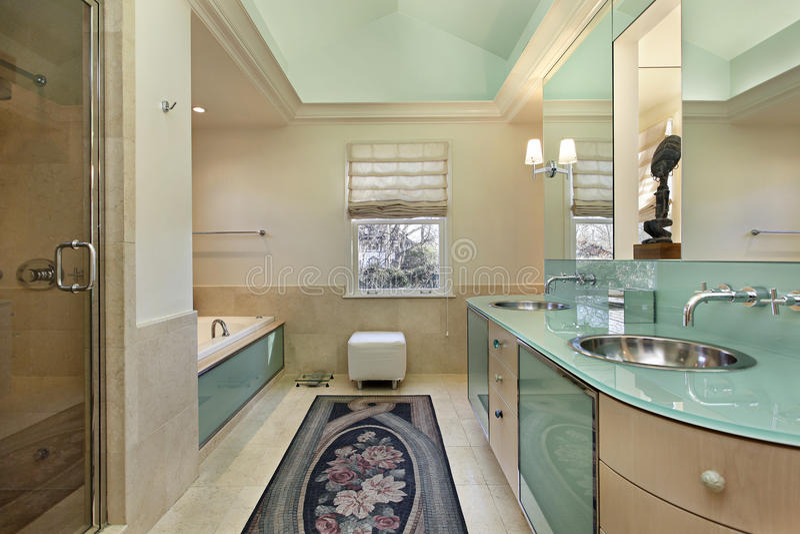 тщета оригинала известки ванны зеленая стоковое изображение
