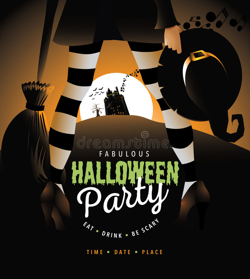 Тыква в партии хеллоуина костюма бесплатная иллюстрация