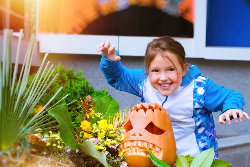Тыква и цукини на хеллоуин стоковые фотографии rf