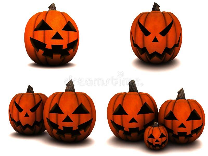 Тыква на хеллоуин иллюстрация вектора