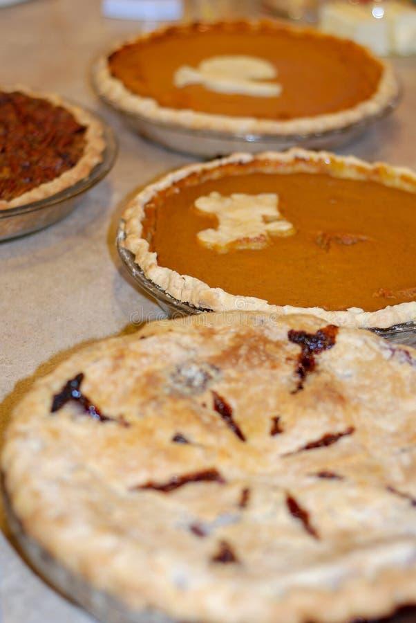 Тыква, пекан, и пирог ягоды на благодарении стоковое фото
