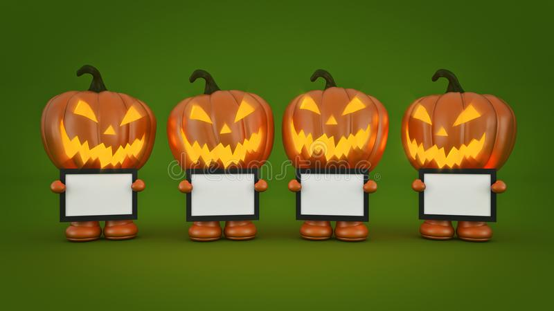 Тыква хеллоуин 3d хеллоуина бесплатная иллюстрация